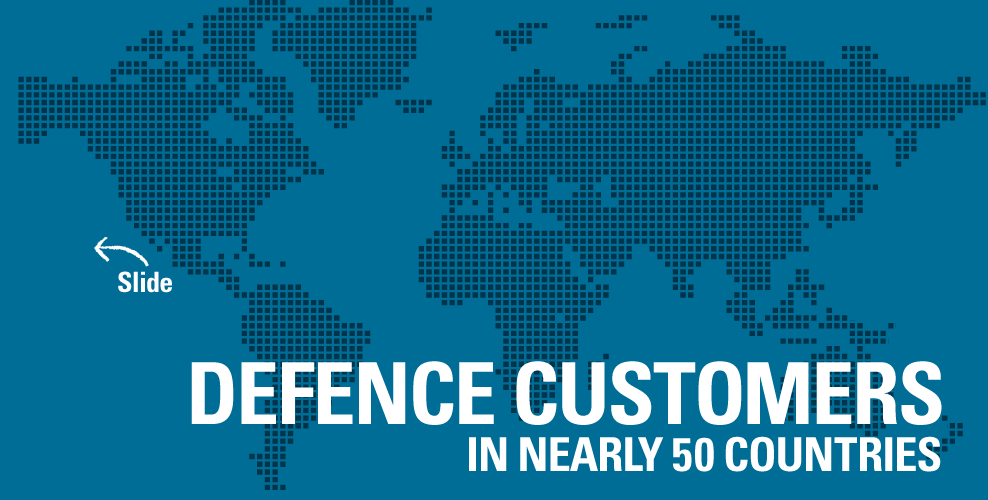 Systematic Defence Customers in nearly 50 countries