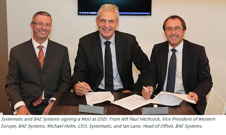 BAE Systems and Systematic signing MOU